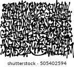 graffiti tags background in... | Shutterstock .eps vector #505402594