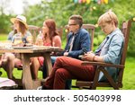leisure  holidays  people and... | Shutterstock . vector #505403998