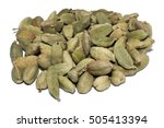 group of cardamon pods with... | Shutterstock . vector #505413394
