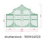 door gate  vector iron work...