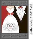 bride and groom wedding... | Shutterstock .eps vector #505416538