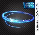 lens glow effect. neon series... | Shutterstock .eps vector #505423960