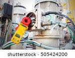 clamp amp meter  electrician... | Shutterstock . vector #505424200