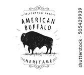 American Buffalo. Vintage Old...