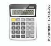 Realistic Calculator Isolated...