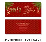 new year 2017. red abstract... | Shutterstock .eps vector #505431634