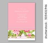 romantic pink rose bridal... | Shutterstock .eps vector #505431946