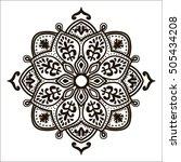 bohemian indian mandala print.... | Shutterstock .eps vector #505434208