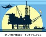 moon offshore platform | Shutterstock .eps vector #505441918