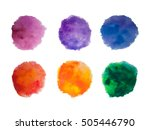 rainbow colors watercolor paint ... | Shutterstock .eps vector #505446790