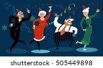 group of active seniors dancing ...   Shutterstock .eps vector #505449898