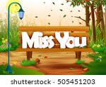vector illustration of miss you ...
