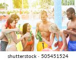 group of multiracial people... | Shutterstock . vector #505451524