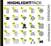 set of 25 universal editable... | Shutterstock .eps vector #505456240