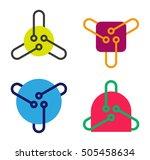 design digital triangle logo... | Shutterstock .eps vector #505458634