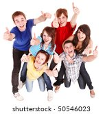 group people with thumbs up.... | Shutterstock . vector #50546023