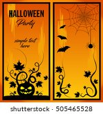 halloween party banner with... | Shutterstock .eps vector #505465528