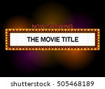 theater sign or cinema sign las ... | Shutterstock .eps vector #505468189