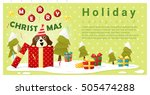 merry christmas greeting... | Shutterstock .eps vector #505474288