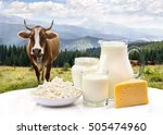 milk  sour cream  cheese and... | Shutterstock . vector #505474960