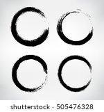 grunge shapes circle frames... | Shutterstock .eps vector #505476328