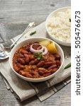 rajma masala   red kidney beans ... | Shutterstock . vector #505476673