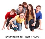 group of happy young people.... | Shutterstock . vector #50547691