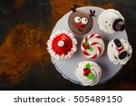 assortment of funny christmas... | Shutterstock . vector #505489150