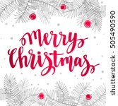 christmas greeting holidays... | Shutterstock .eps vector #505490590