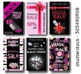 black friday sale. mega sale.... | Shutterstock .eps vector #505490908