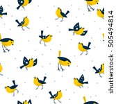 flying birds vector pattern | Shutterstock .eps vector #505494814