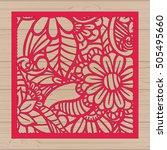 die cut card. laser cut vector... | Shutterstock .eps vector #505495660