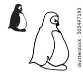 cartoon antarctic penguins....   Shutterstock .eps vector #505497193