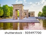 the temple of debod is an... | Shutterstock . vector #505497700