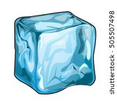 single ice cube isolated on a... | Shutterstock .eps vector #505507498