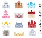 castles icons set. medieval... | Shutterstock .eps vector #505507804