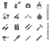 care products icons set.... | Shutterstock .eps vector #505509310