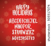 holiday font  lettering  numbers | Shutterstock .eps vector #505517074