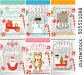 merry christmas   new year mini ... | Shutterstock .eps vector #505521088