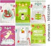 merry christmas   happy new... | Shutterstock .eps vector #505521094
