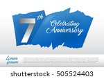 7th anniversary logo with blue...   Shutterstock .eps vector #505524403