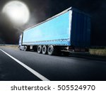 the truck driving towards sunset | Shutterstock . vector #505524970