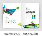 triangles and lines  annual... | Shutterstock .eps vector #505526038