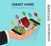 smart home iot internet of... | Shutterstock .eps vector #505528408