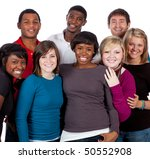 a multi racial group of college ... | Shutterstock . vector #50552908
