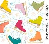 figure skates on the background ... | Shutterstock .eps vector #505533829