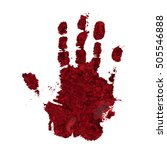 bloody hand print isolated on... | Shutterstock .eps vector #505546888