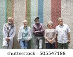 group of senior retirement... | Shutterstock . vector #505547188
