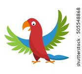cartoon parrot wild animal bird.... | Shutterstock .eps vector #505548868