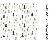 seamless winter pattern with... | Shutterstock .eps vector #505553896